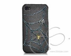Halloween Bling Swarovski Crystal Phone Case - Spider  http://www.dsstyles.com/ds.crystals/ds.-crystal-phone-cases-love-swarovski-crystal-phone-case-harmonized.html