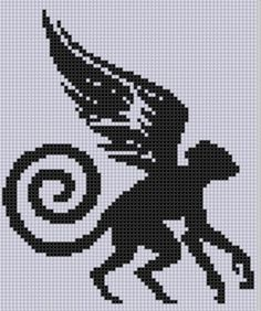 Looking for your next project? You're going to love Flying Monkey 2 Cross Stitch Pattern  by designer bracefacepatterns. - via @Craftsy