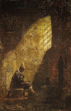 Carl Spitzweg - Ash Wednesday, 1860 at Staatsgalerie - Stuttgart Germany