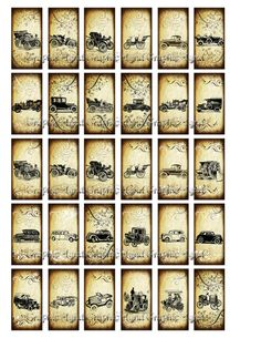 1x2 domino collage sheets. Digital collage sheet by graphicland