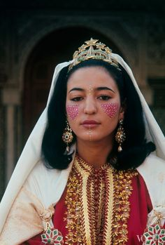 Princess Lalla Nouzha of Morocco. Makeup and costume details for the wife of the Carthaginian ambassador.
