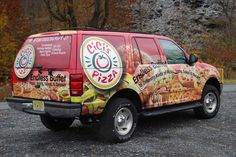 Vehicle wraps are a great way for pizza places to achieve brand recognition, but their greatest strength is that their imagery can trigger powerful emotions.
