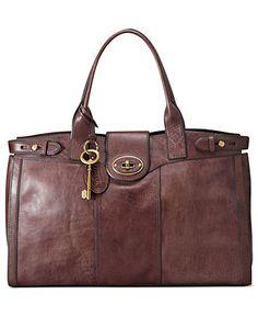 Fossil Handbag, Vintage Reissue Weekender - Handbags & Accessories - Macy's