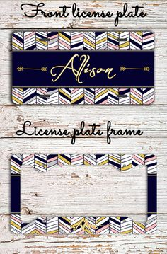 Personalized license plate Aztec front license by ToGildTheLily