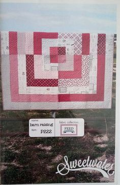 Sale Barn Raising quilt pattern by Sweetwater Quilting, Tree Quilt, Fabric Squares, Rose Cottage, Square Quilt, Embroidery Thread, Quilt Making, Linen Fabric, Quilt Patterns