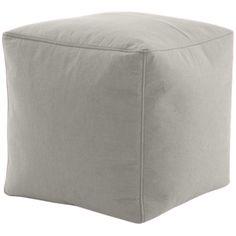 Pouf Cube - tissu façon feutre gris - 10 couleurs - 49€