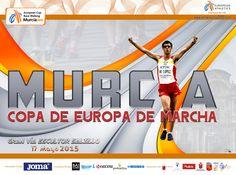 Éste es el cartel de la Copa de Europa de Marcha, que se disputará en Murcia el próximo 17 de mayo.
