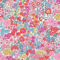 Liberty Fabric Tana Lawn Margaret Annie Y Hot Orange