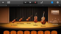 GarageBand iOS turns an iPad into a complete music recording studio. This is a must have creativity app for composing, playing and recording music. Create an iPad bands with speakers and a mixture of the GarageBand instruments.