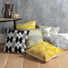 New designs Rosette & Riad Cushions – Sian Elin – Pillow Inspiration, Interior Inspiration, Yellow Cushions, Luxury Cushions, Cushion Fabric, Soft Furnishings, Home Accessories, Decorative Pillows, Furniture Design