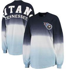 NFL Pro Line by Fanatics Branded Tennessee Titans Women's Navy/Light Blue Spirit Jersey Long Sleeve T-Shirt