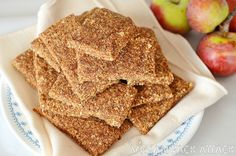 Raw apple cinnamon almond bars for the dehydrator.