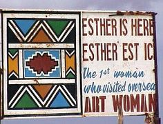 sign at residence of ndebele artist, esther mahlangu