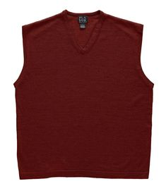 Signature Collection Merino Wool Sweater Vest - Big CLEARANCE