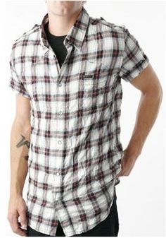 William Rast Short Sleeve Plaid Shirt