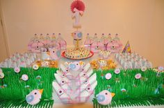 Mesa decorada Jardim encantado + passarinhos