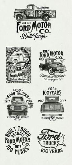 Ford Motor Logo Vintage Brushlettering handgemalte Typografie Inspiration auf … Ford Motor Logo Vintage Brushlettering Hand Painted Typography Inspiration on …, Classic Ford Trucks, Ford Pickup Trucks, Chevy Classic, Ford 4x4, Jeep Pickup, F350 Ford, F100 Truck, Vintage Trucks, Old Trucks