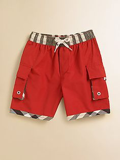 Burberry Boy's Swim Trunks, Love these! Boys Dressy Outfits, Stylish Dresses For Girls, Toddler Boy Outfits, Kids Outfits, Baby Girl Frocks, Baby Boy Dress, Frocks For Girls, African Men Fashion, Kids Fashion