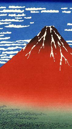 葛飾北斎 凱風快晴 Katsushika Hokusai - Gaifu kaisei 1080x1920