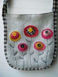 Upcycled Sweater tote part Deaux