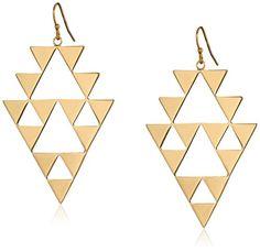 "Trina Turk ""Urban Nomad"" Gold-Plated Triangle Cutout Earrings - http://www.sparklingheaven.com/trina-turk-jewelry/trina-turk-urban-nomad-gold-plated-triangle-cutout-earrings/"