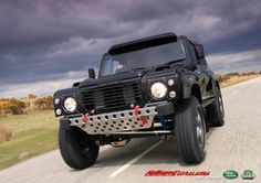 Special Land Rover Bowler Wildcat  Available in our workshop with 3.0 V6 TDI Diesel Engine and 4.6 V8 Petrol Jaguar Engine  Totally customizable  http://www.motorsportloralamia.com/Bowler_Wildcat_Brochure_2012.pdf  that's the bumper i want for my land rover!