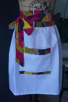 Beautiful added to my shop: Heavenly White - Red, brown & yello. Beautiful added to my shop: Heavenly White – Red, brown & yello… Beautiful added to my shop: Heavenly White – Red, brown & yellow African Print Half Apron African Print Dresses, African Fashion Dresses, African Dress, African Attire, African Wear, African Women, African Style, African Print Fashion, Africa Fashion