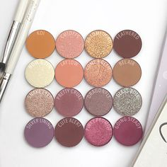 Build your own customized makeup palette! Select an empty magnetic palette and fill it up with your favorite shades of eyeshadows, highlighters, blush, and bronzers to fit inside. Colourpop Eyeshadow, Colourpop Cosmetics, Eyeshadow Looks, Benefit Cosmetics, Eyeshadow Palette, Lip Gloss, Makeup Dupes, Makeup Geek, Make Up