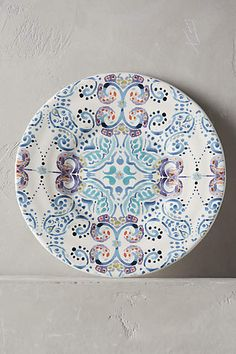 I love this too much. There also one with some paisley. Swirled Symmetry Side Plate - anthropologie.com