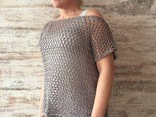 Netzshirt häkeln - schnell und einfach Raglan Shirts, Basic Shirts, Free Pattern, Knit Crochet, Crochet Patterns, Plus Size, Pullover, Knitting, Outfits