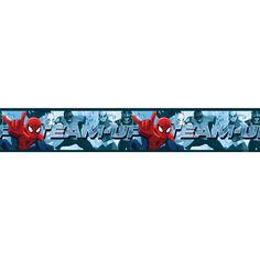 Spiderman Team Up Self Adhesive Wallpaper Border 5m