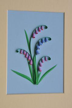 Открытки с цветами в технике квиллинг