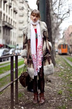 Eclectic Style ... seeing street style pictures of Abbey Lee in all their bohemian glory #eclectic clothing #eclectic fashion #eclectic women's fashion #eclectic women's wear #eclectic #mix print fashion