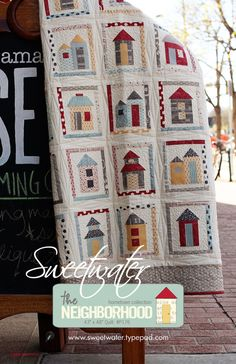 Sweetwater - The Neighborhood Quilt Pattern - FREE SHIPPING with any other purchase. $8.00, via Etsy.