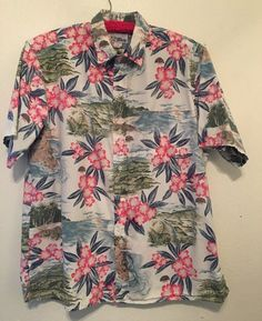af06f1982c8 Reyn Spooner Hawiian Shirt 1990 s Kilauea Lighthouse.Kauai North Shore Size  L