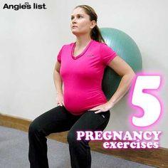 5 pregnancy exercises -