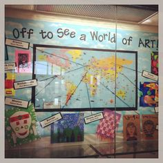 """art around the world.  I'd love to change this to """"Off to See a World of Music"""" and highlight unusual instruments from various countries."""