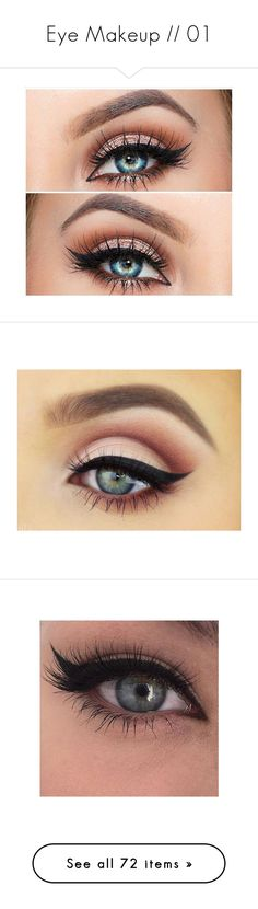 """Eye Makeup // 01"" by nightmareofahuman ❤ liked on Polyvore featuring beauty products, makeup, eye makeup, eyeshadow, eyes, beauty, eye brow makeup, make, eyeliner and cosmetics"