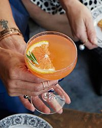 Blood Orange Rosemary Fizz Cocktail: This festive Prosecco cocktail features bittersweet Aperol and rosemary-infused simple syrup.