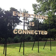 "Discovered by Iain McLean, ""Everything is connected"" at Yorkshire Sculpture Park, Wakefield, England"