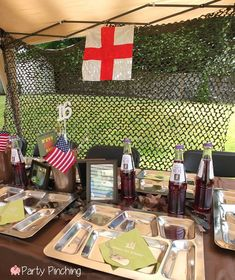 Boot camp camp decorations and camps on pinterest for Army theme party decoration ideas