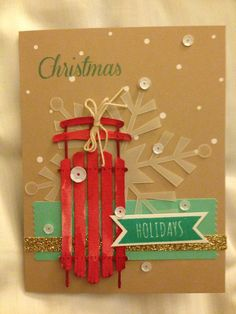 Stampin' Up! demonstrator Pamela A's project showing a fun alternate use for the Watercolor Winter Simply Created Card Kit.