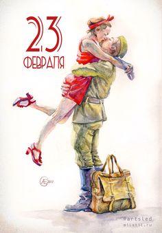 #watercolor #sketch #soldier #campomaggi #milstil #artsled #артслед #солдат #акварель #открытка #23февраля #солдат #дождалась
