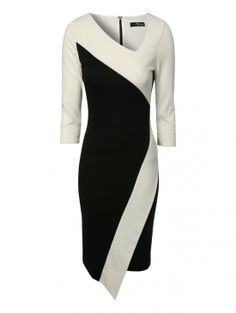 Jane Norman Asymmetric Monochrome Dress | Jane Norman