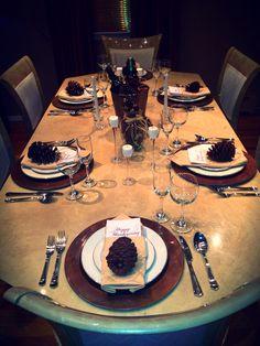 Thanks giving setting !! Table setting !! Elegant table setting !!! Yea I did that !!