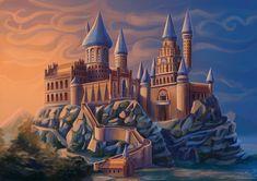 Harry Potter Places, Harry Potter Castle, Harry Potter Friends, Harry Potter Artwork, University Architecture, Great Britain, Photo Cards, Hogwarts, House Styles