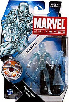 """Marvel Universe 3 3/4 Inch Series 16 Action Figure #23 Iceman by Hasbro. $17.99. Pose your powerful ICEMAN figure on his stand!. This detailed ICEMAN figure is just the """"mutant"""" youâ?TMve been looking for!. The heroes and the villains of the Marvel Universe make the leap from the comic books to your action figure collection with these allnew Marvel Universe Action Figures! Each figure stands 3 3/4 tall and comes with accessories to save the day  or conquer the world!"""