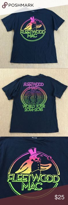 ALL SIZES FLEETWOOD MAC BAND LINE UP MUSIC FESTIVAL T SHIRT TEE