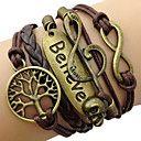 encanto de couro de multiplas camadas de couro braceletsfashion acreditam embrulhar pulseira inspirado joias pulseira