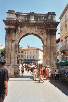Roman arch at Pola, Croatia. Put up by a woman, Salvia Postuma, up to three male members of her family who were involved in military operations.